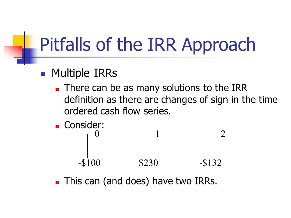 Pitfalls of the IRR Approach