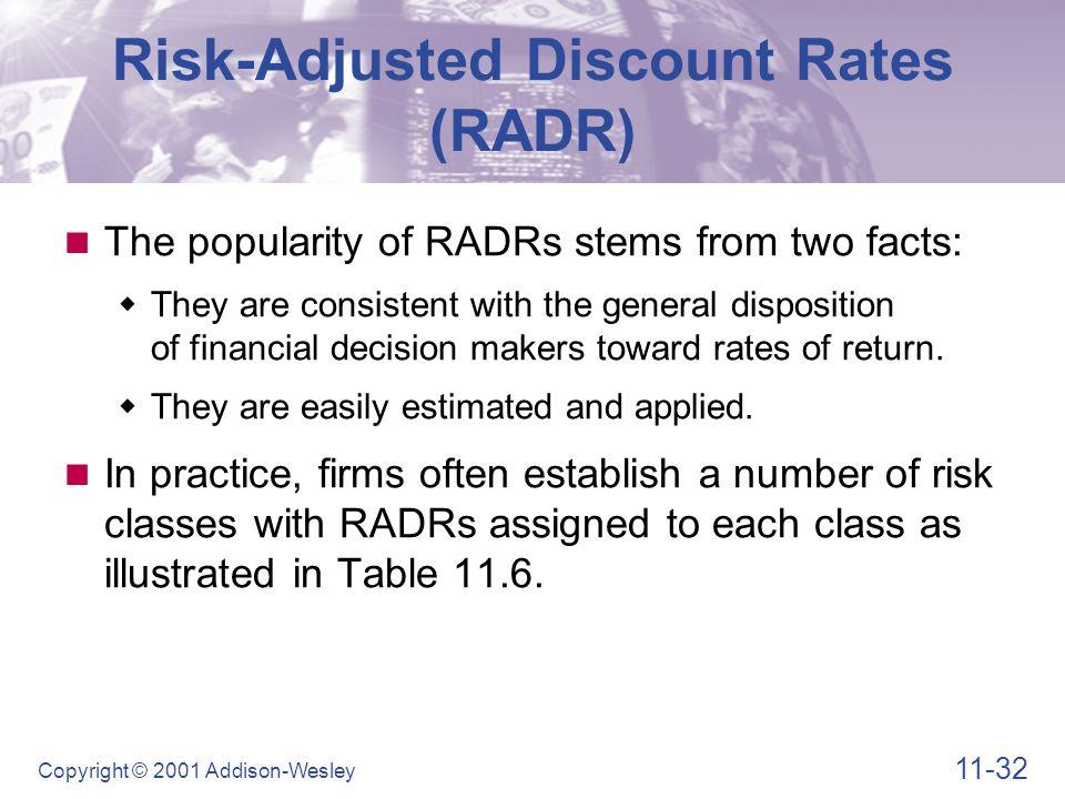 Risk-Adjusted Discount Rates (RADR)