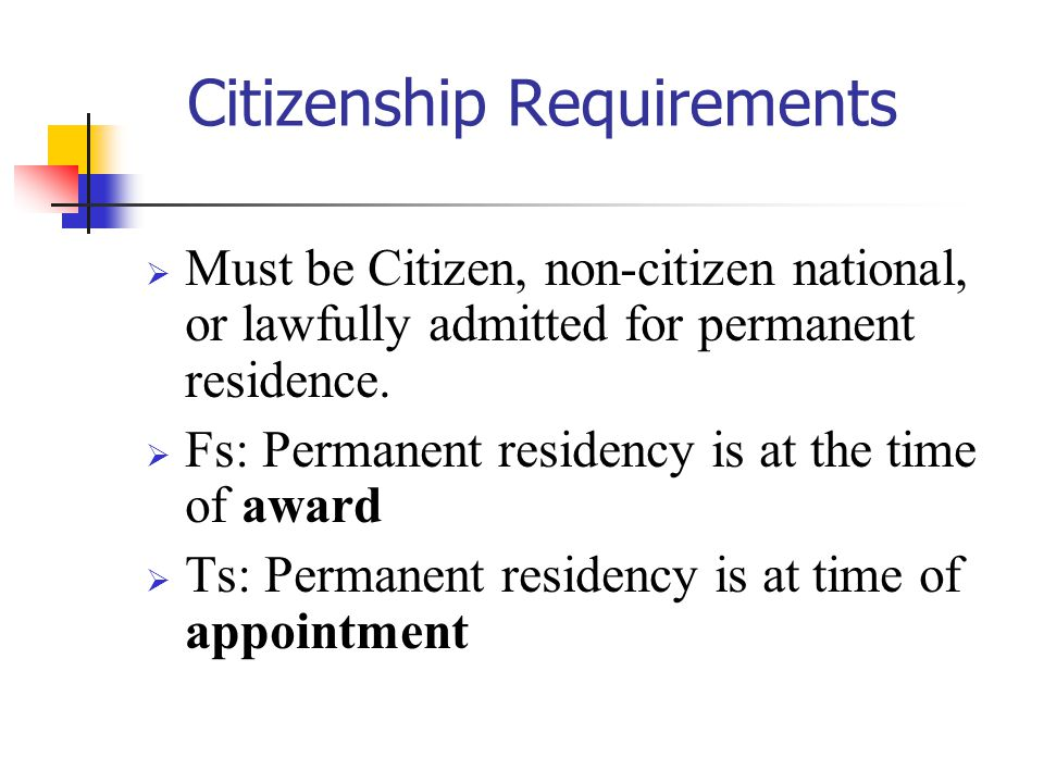 Citizenship Requirements