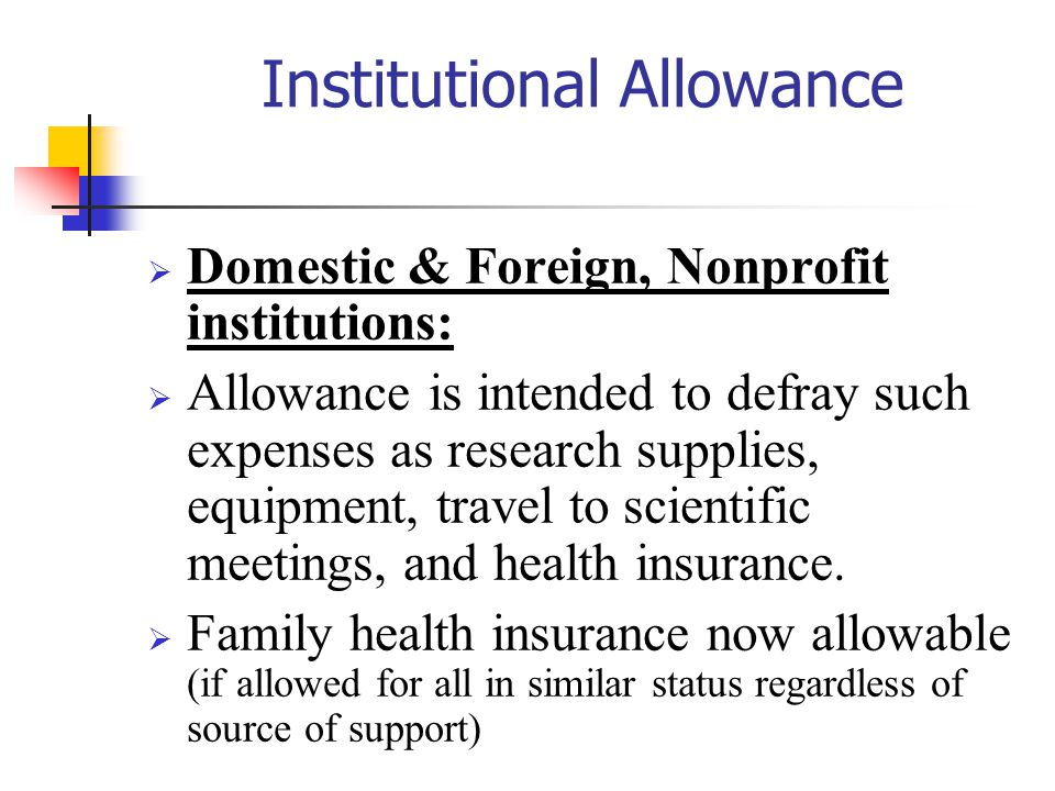 Institutional Allowance