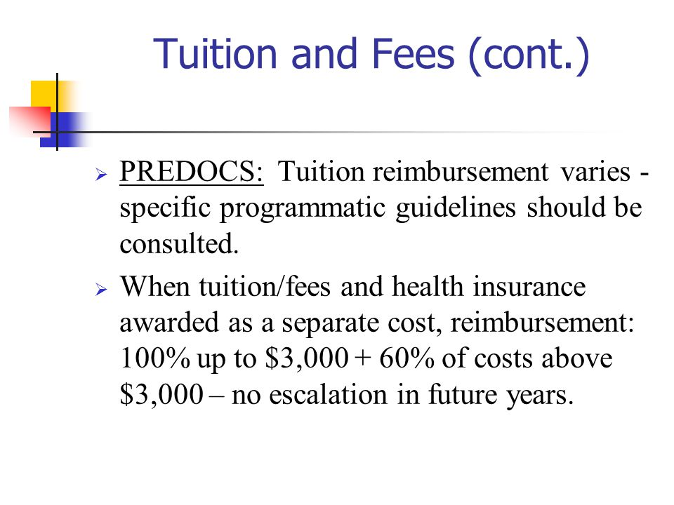 Tuition and Fees (cont.)