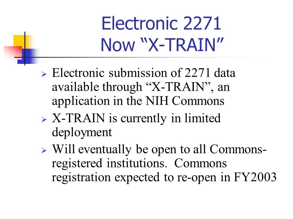 Electronic 2271 Now X-TRAIN