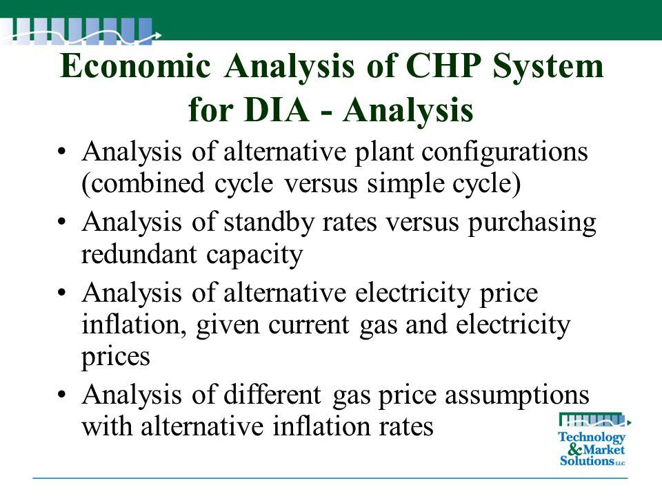 Economic Analysis of CHP System for DIA - Analysis