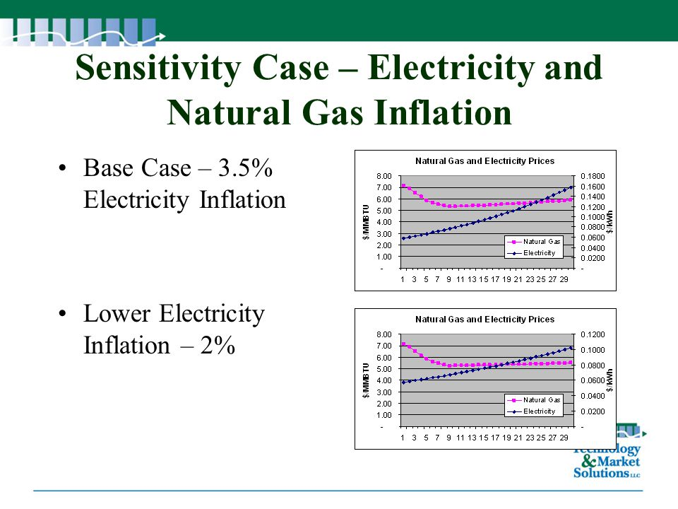 Sensitivity Case – Electricity and Natural Gas Inflation