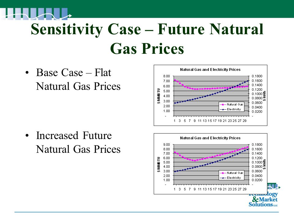 Sensitivity Case – Future Natural Gas Prices