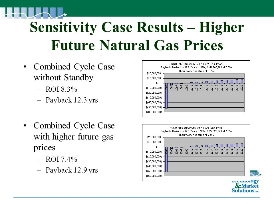 Sensitivity Case Results – Higher Future Natural Gas Prices