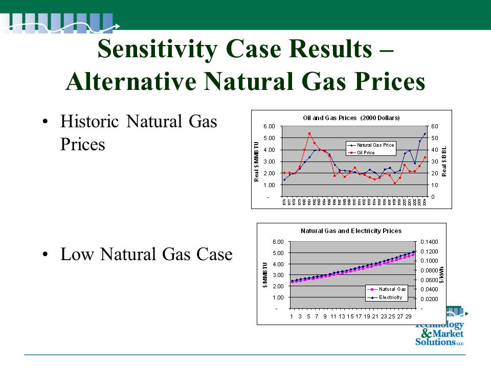 Sensitivity Case Results – Alternative Natural Gas Prices