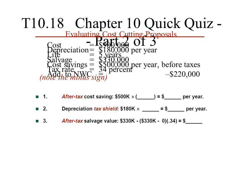 T10.18 Chapter 10 Quick Quiz -- Part 2 of 3