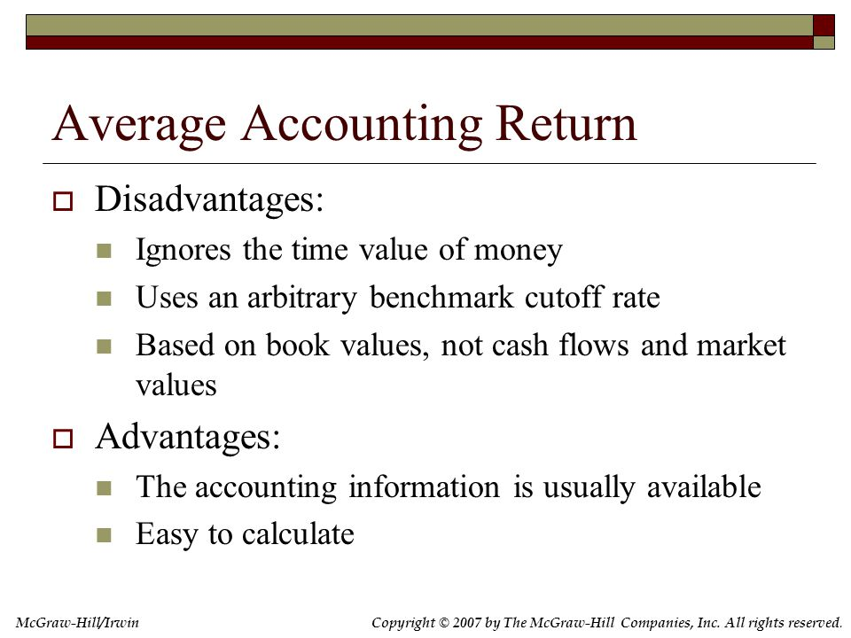 7.5 The Internal Rate of Return
