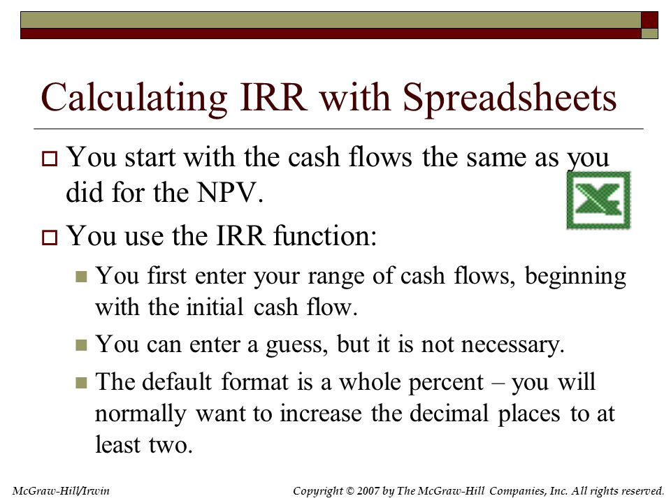 7.6 Problems with IRR Multiple IRRs Are We Borrowing or Lending