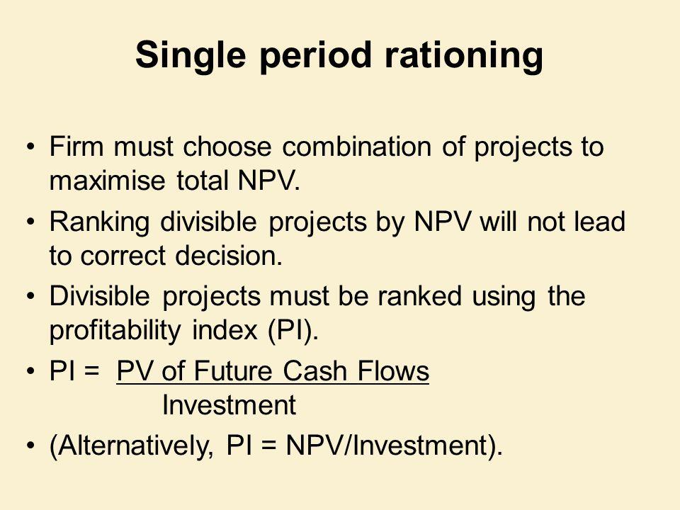 Single period rationing