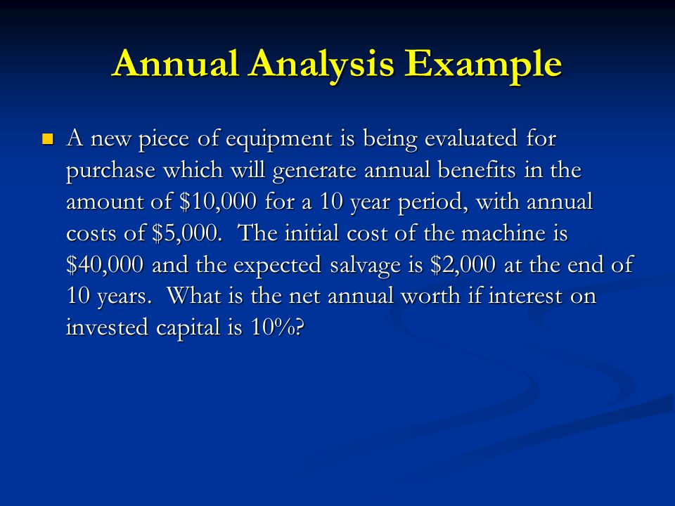 Annual Analysis Example