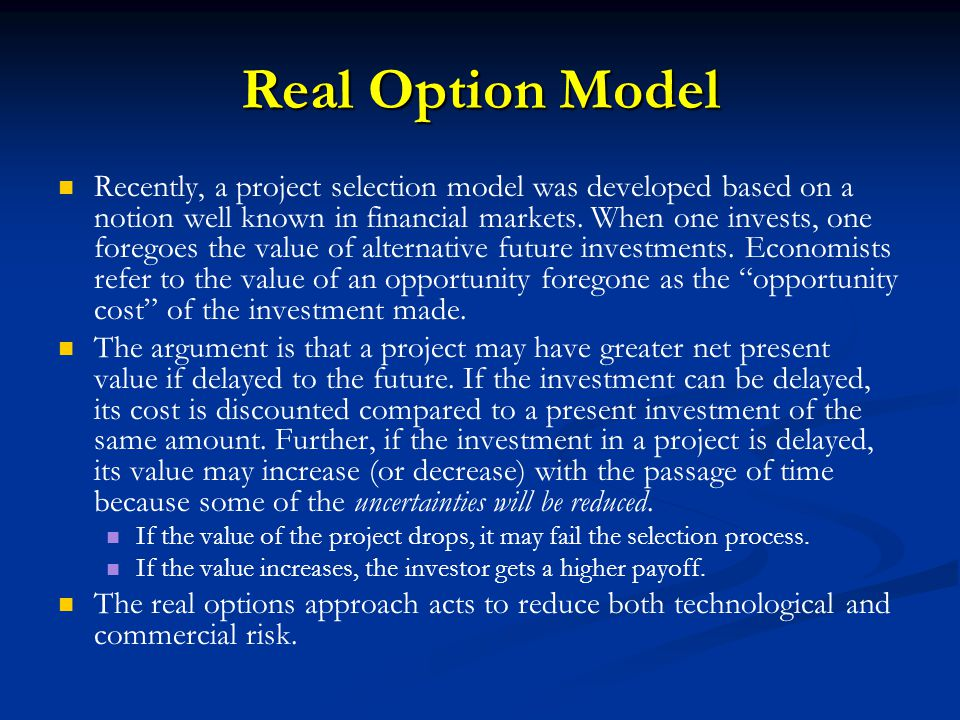 Real Option Model
