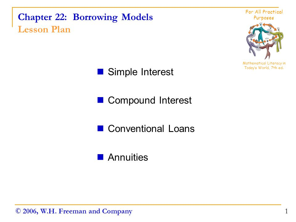 Chapter 22: Borrowing Models Lesson Plan