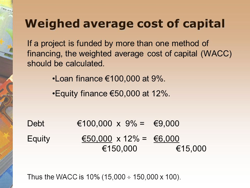 Weighed average cost of capital