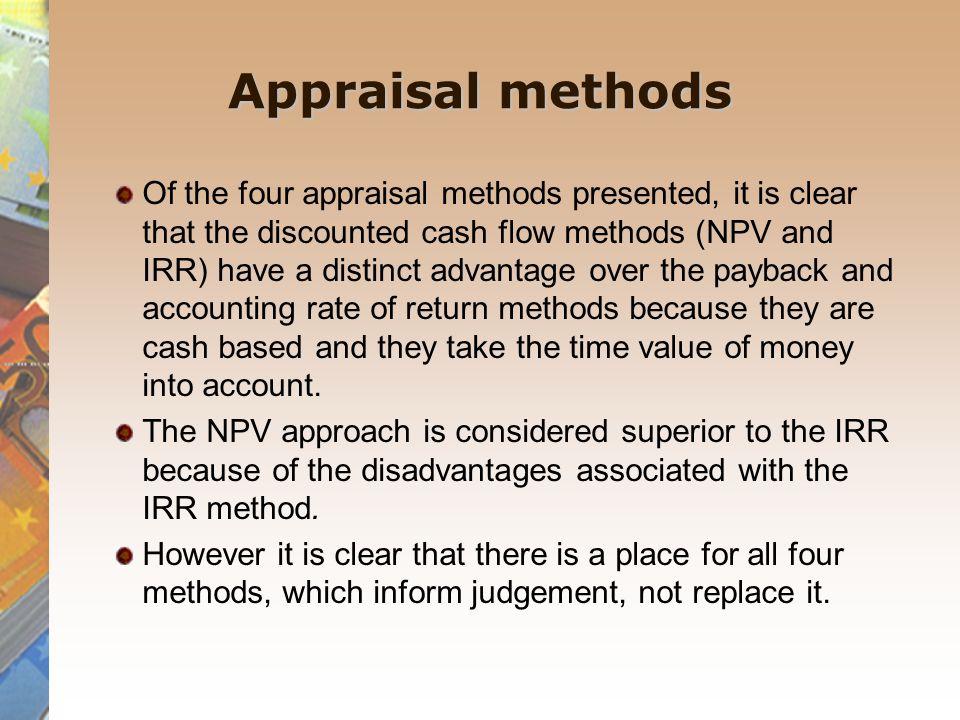 Appraisal methods