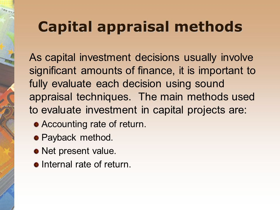 project appraisal to working capital Investment appraisal sample questions and answers investment appraisal sample questions and investment appraisal 33 working capital examples of cash outflows.