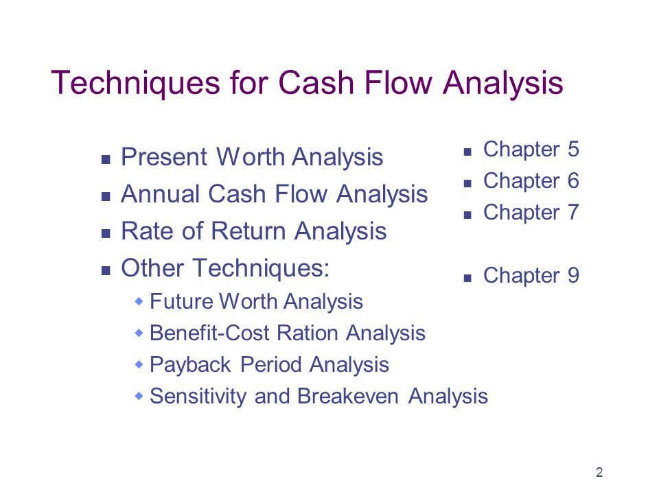 Techniques for Cash Flow Analysis