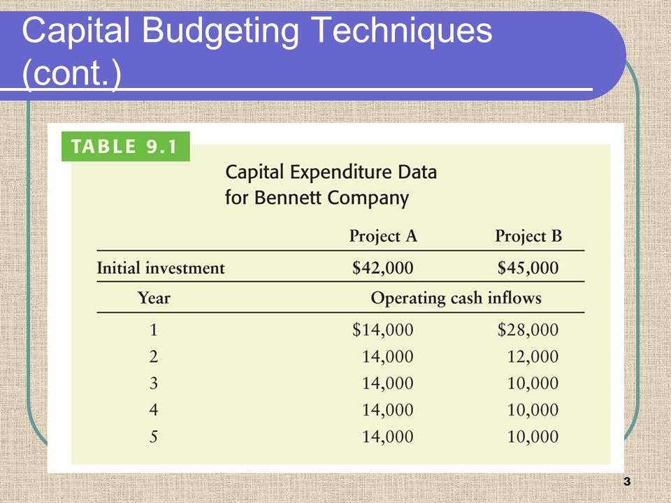 Capital Budgeting Techniques (cont.)