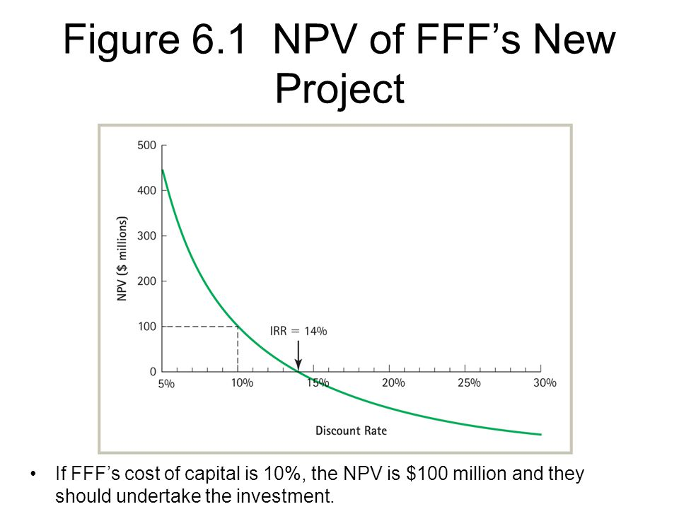 Figure 6.1 NPV of FFF's New Project