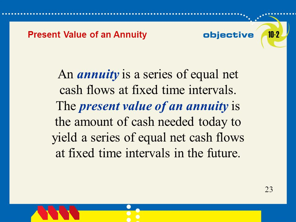 Present Value of an Annuity 10-2.
