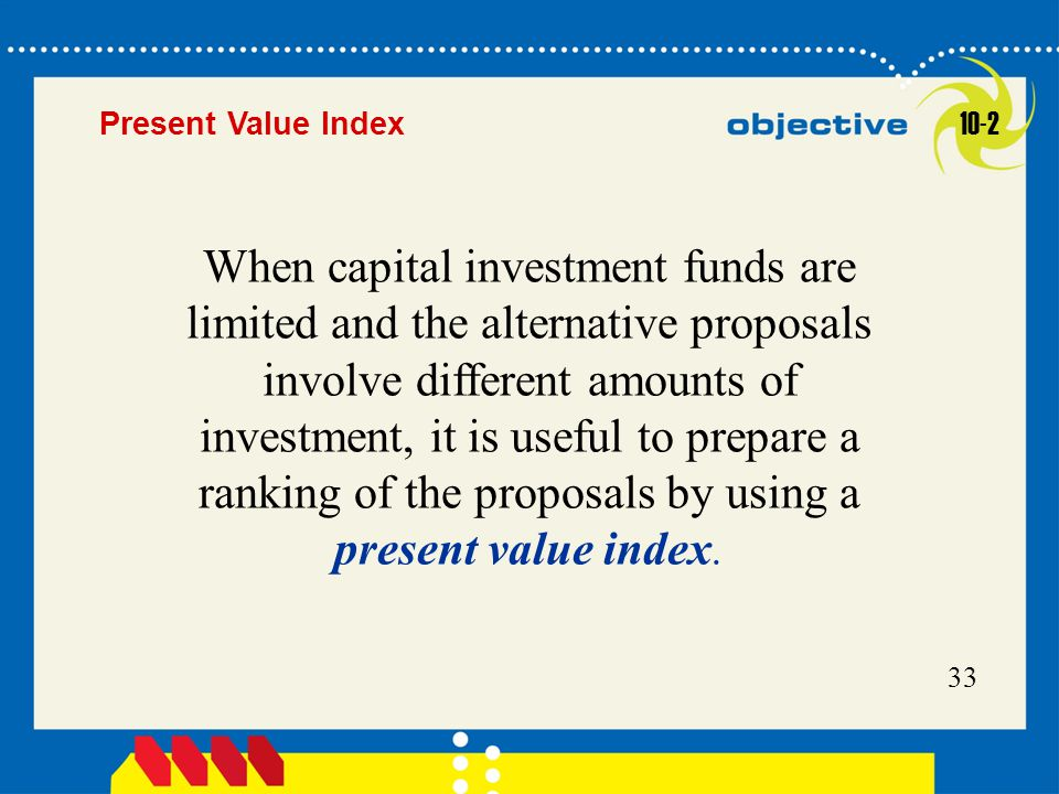 Present Value Index 10-2.