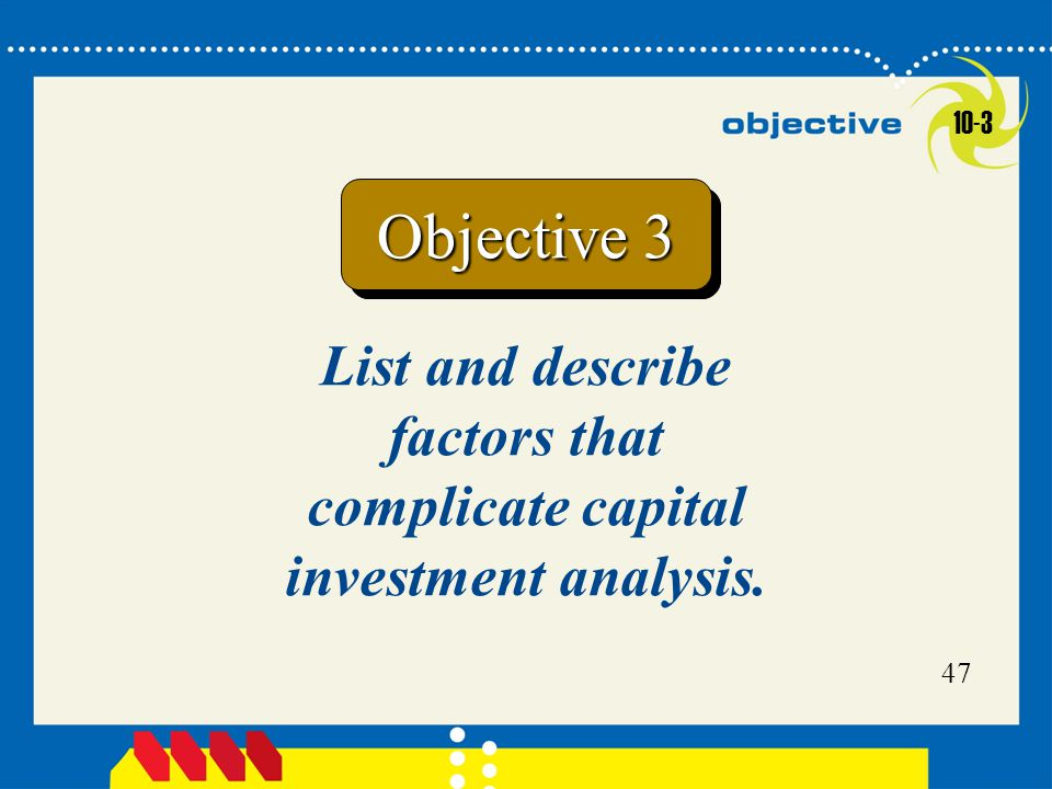 List and describe factors that complicate capital investment analysis.