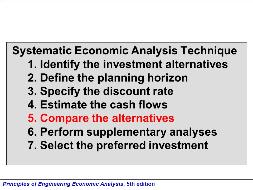 Systematic Economic Analysis Technique