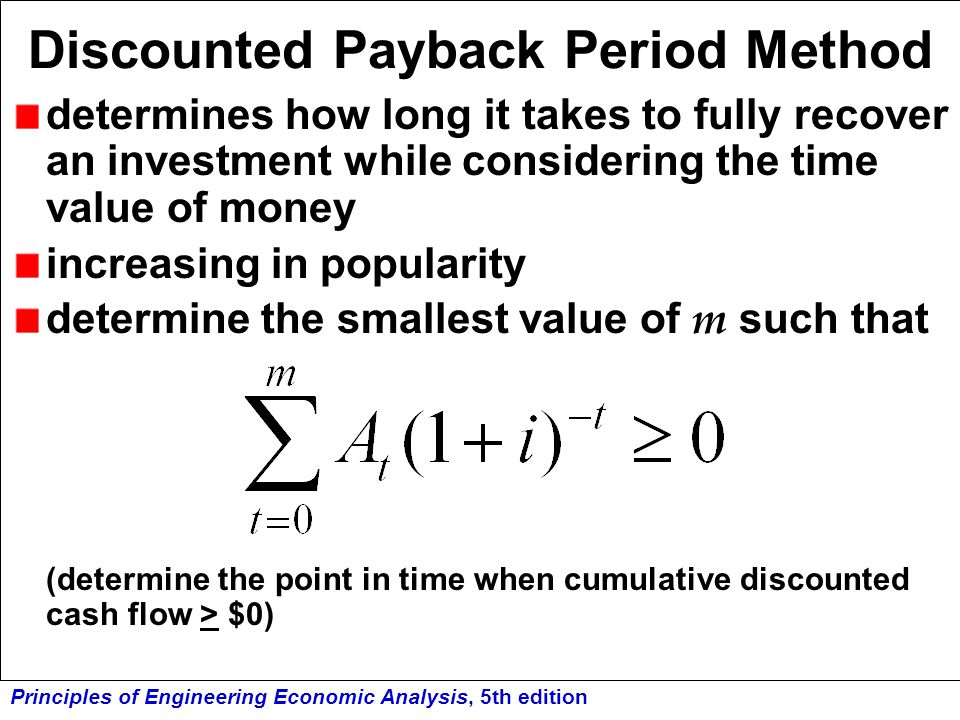 Discounted Payback Period Method