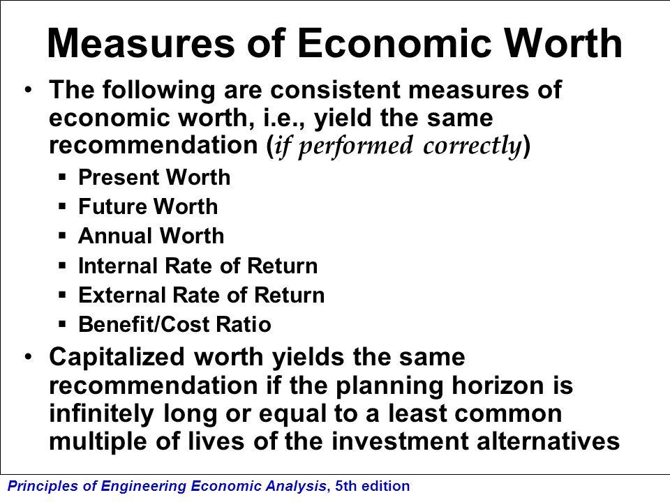 Measures of Economic Worth