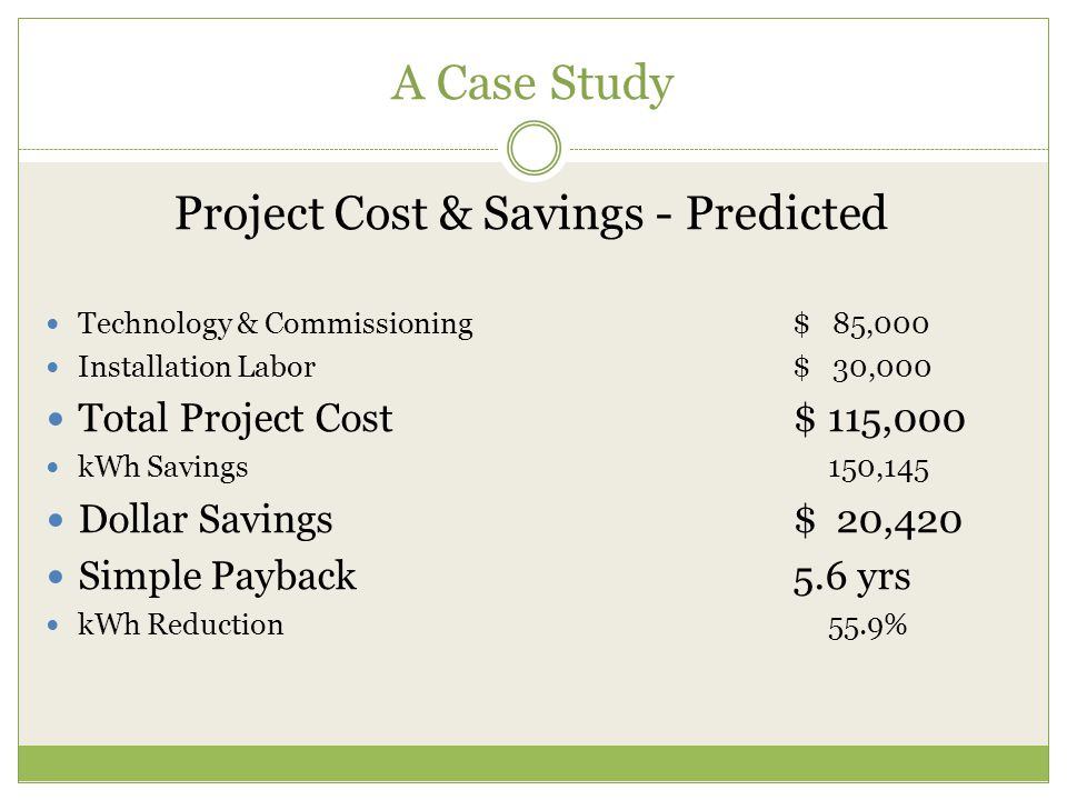Project Cost & Savings - Predicted