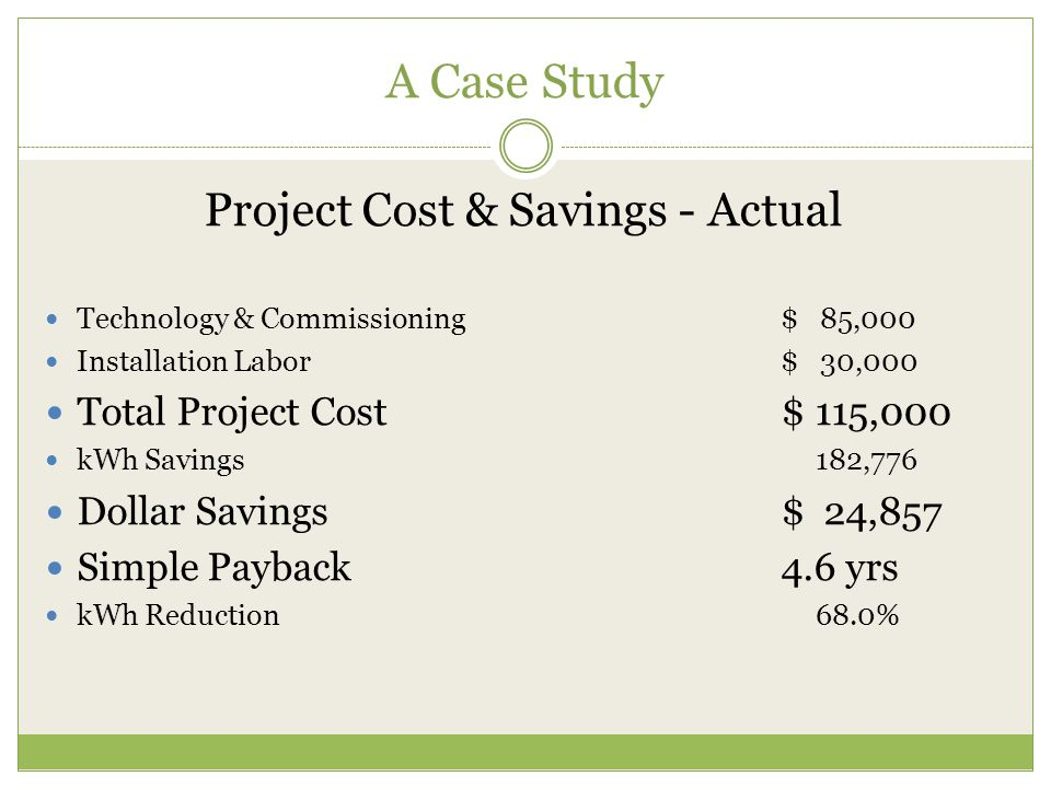 Project Cost & Savings - Actual