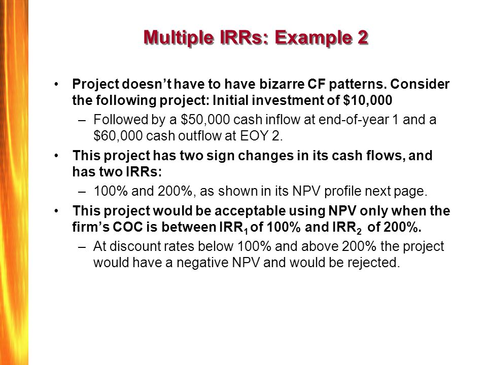 Multiple IRRs: Example 2