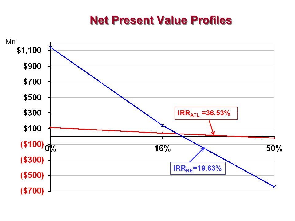 Net Present Value Profiles
