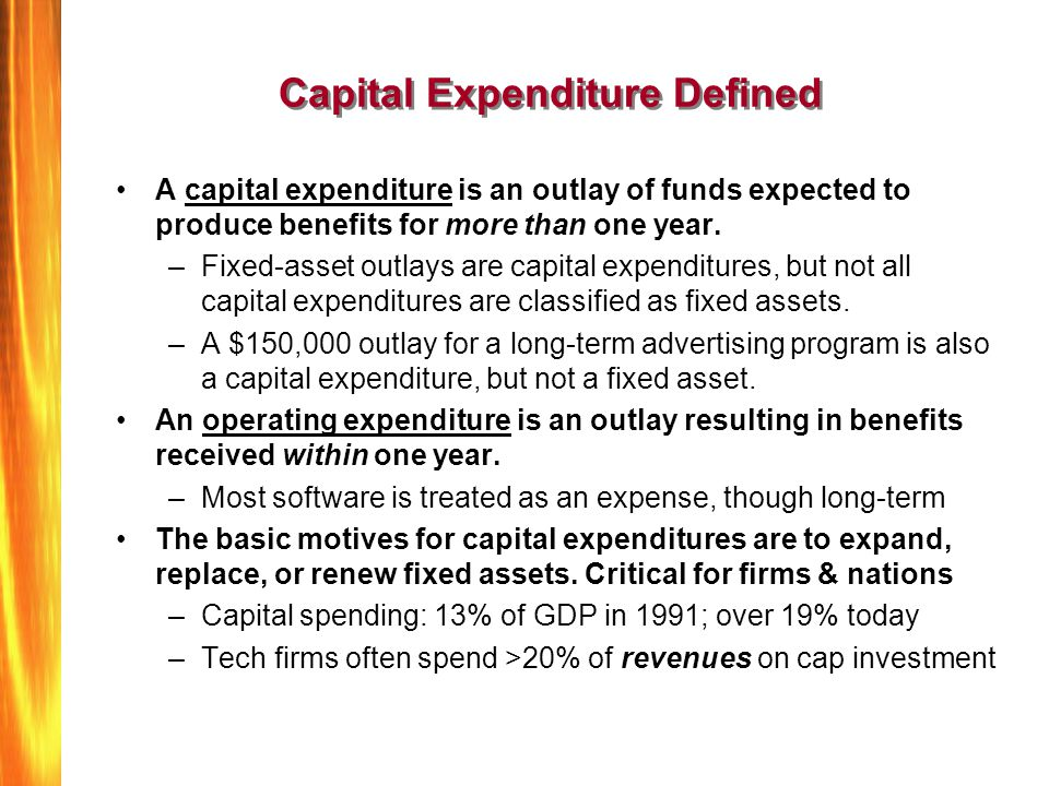 Capital Expenditure Defined