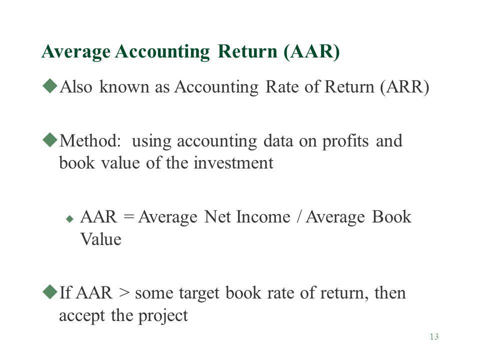 Average Accounting Return (AAR)