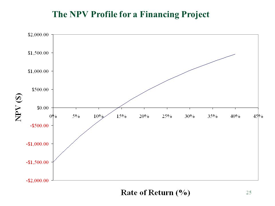 The NPV Profile for a Financing Project