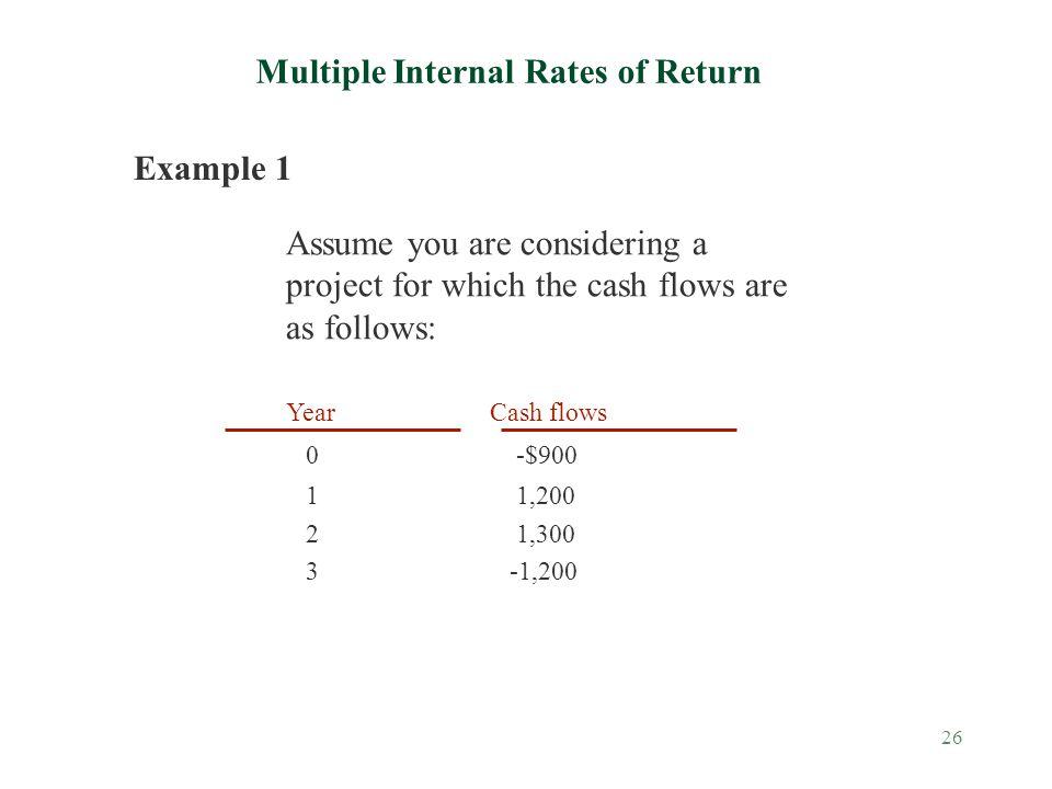 Multiple Internal Rates of Return