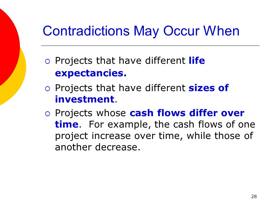 Contradictions May Occur When