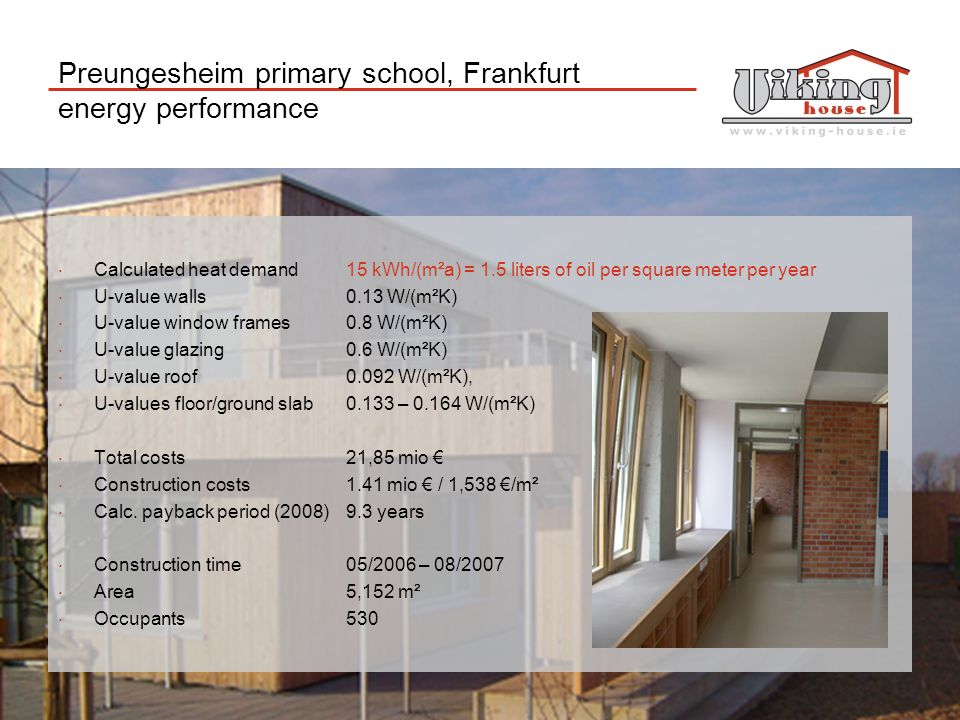 Preungesheim primary school, Frankfurt energy performance
