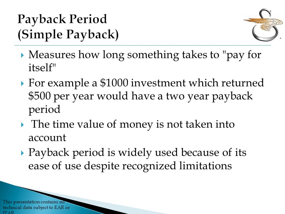 Payback Period (Simple Payback)