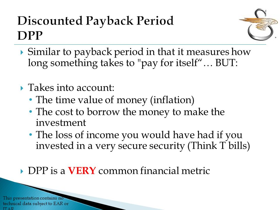 Discounted Payback Period DPP