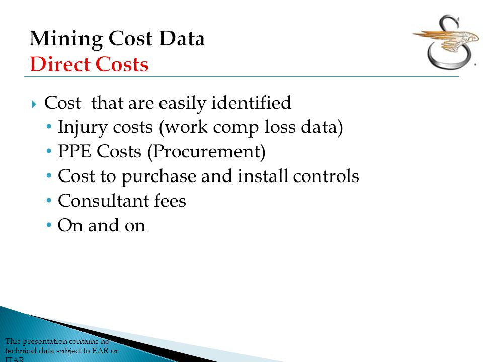Mining Cost Data Direct Costs