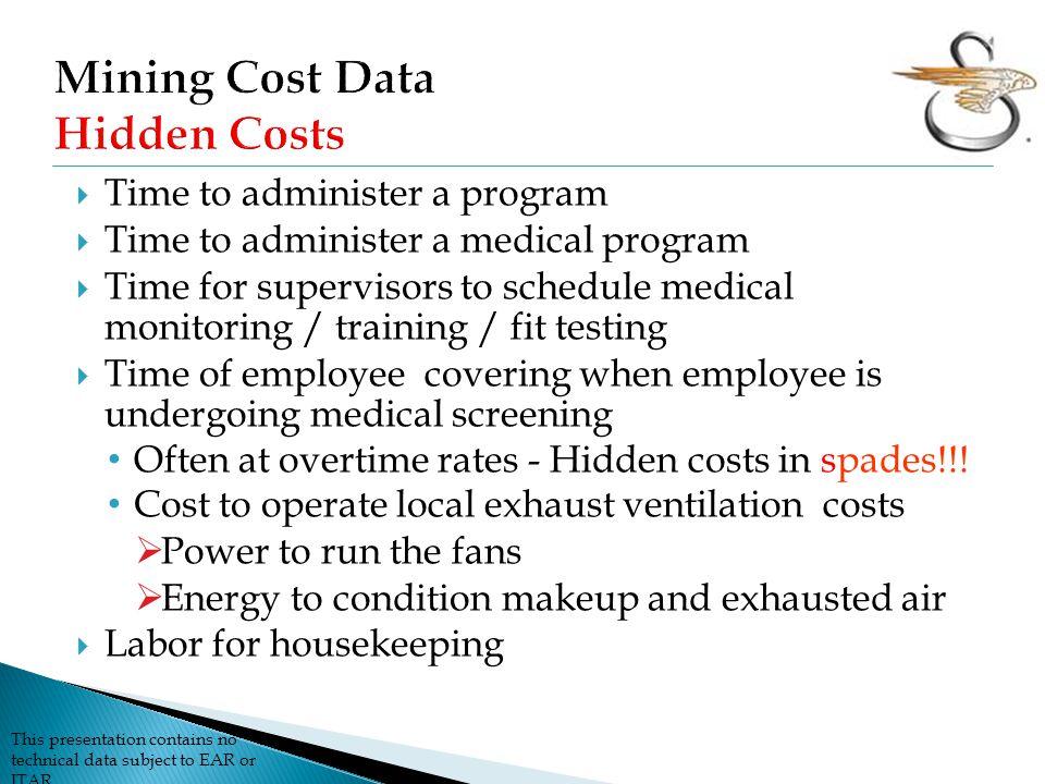 Mining Cost Data Hidden Costs