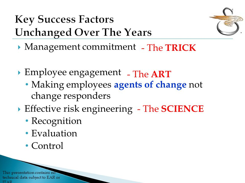 Key Success Factors Unchanged Over The Years
