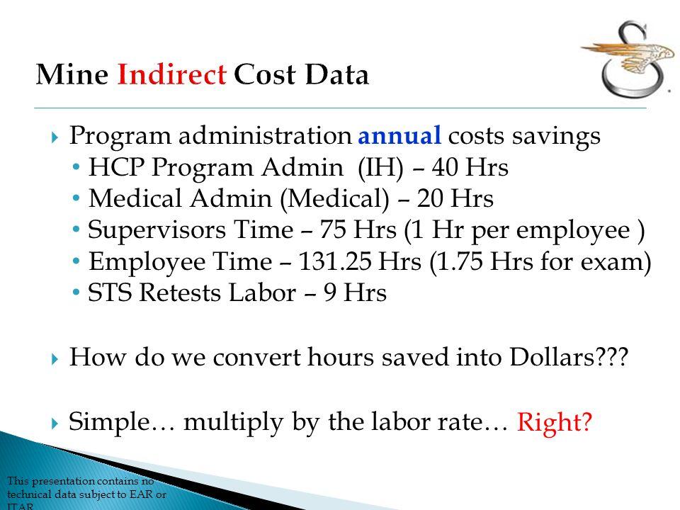Mine Indirect Cost Data
