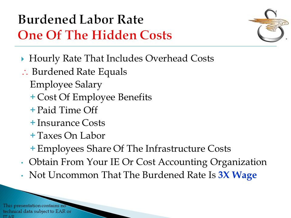 Burdened Labor Rate One Of The Hidden Costs