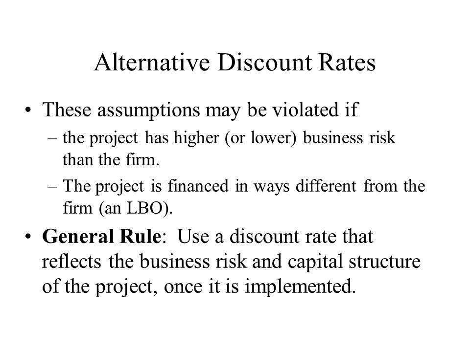Alternative Discount Rates