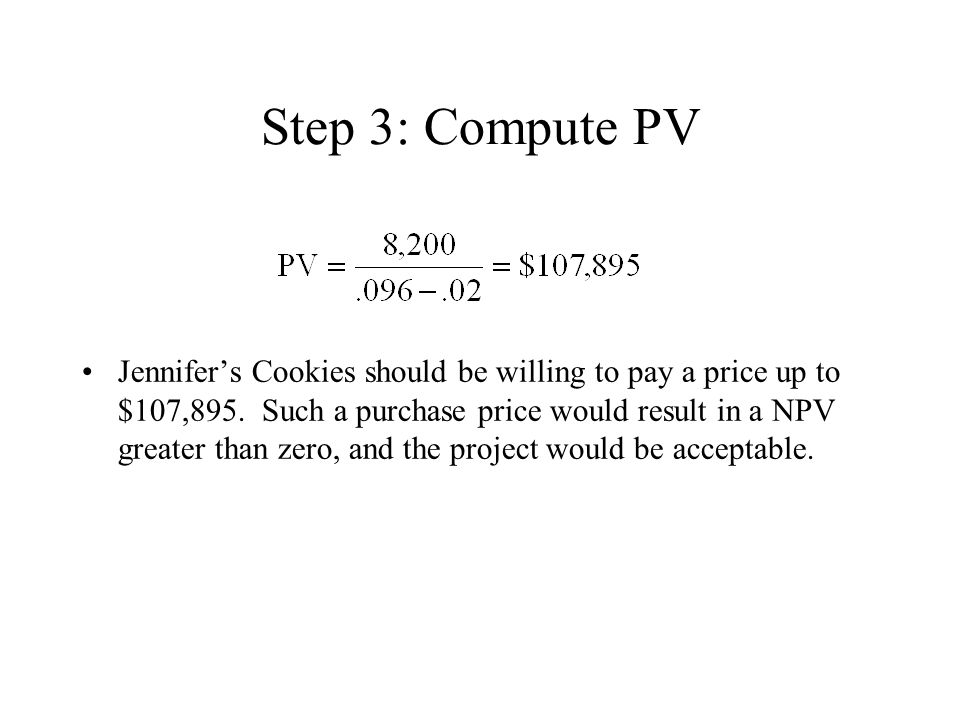 Step 3: Compute PV