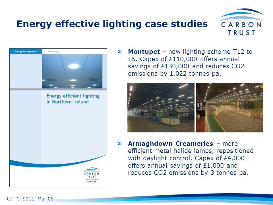 Energy effective lighting case studies